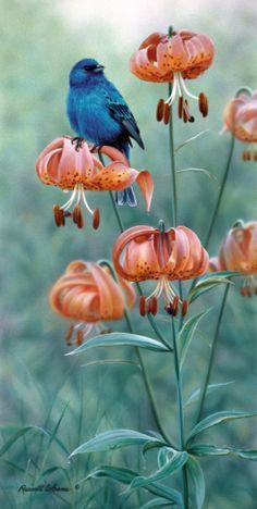 Indigo and Lilies... Just Beautiful...