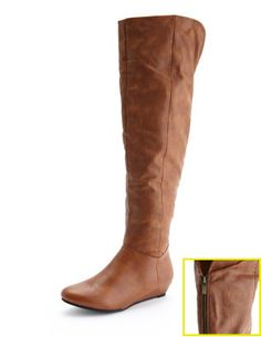 Cuffed Zip-Back Wedge Boot        $40.00