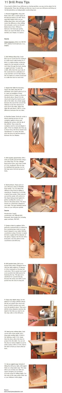 11 Drill Press Tips