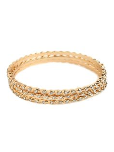 baublebar jewelry | Baublebar Gold Ice Bangles We've put this trio of crystal-dotted ...