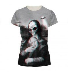 Mona Lisa 3d Print Women T-Shirt