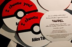 Pokemon Invitations! And maybe ways for the groom to ask his best man and groomsmen?