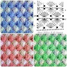 ♥♡ ♡♥ Crochê de Fuxico  -  /   ♥♡ ♡♥ Crochet in Fuxico  -