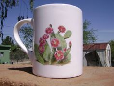 Set of 4 Cactus Coffee Cups