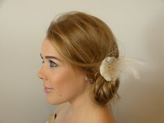 Wedding Hair Fascinator with Soft Cotton Tulle by HollysWorth, €30.00
