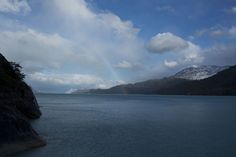 The view from my cabin in Patagonia