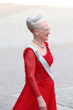 Queen Margarethe, Prince Carl Philip's godmother. Stockholm's Royal Palace on June 13, 2015
