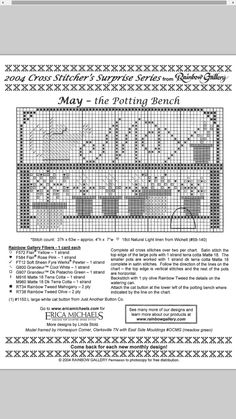 The Potting Bench - May #05 Design By: Erica Michaels