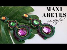 MAXI Aretes Soutache (técnica pegada) #fantasticazul - YouTube Bracelet Watch, Jewels, Bracelets, Zipper, Youtube, Footprint, Soutache Jewelry, Chokers, Beading