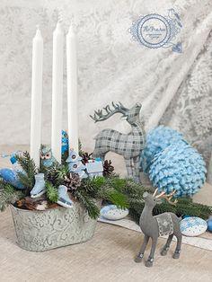 композиция новогодняя со свечами аранжировка дизайн оформленеи кемерово цветочная настольная www.flofra.ru