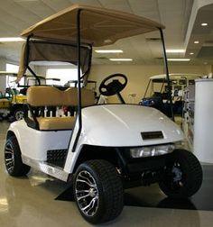 EZ-GO Custom White 36v Golf Cart