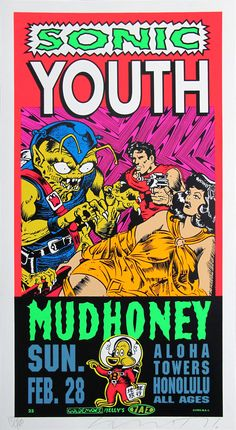 SONIC YOUTH / MUDHONEY #gig #poster #art