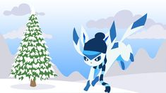 Glaceon in Winter Winter Wallpaper, Hd Wallpaper, Wallpapers, The Creator, Illustration Art, Display, Christmas Ornaments, Holiday Decor, Image