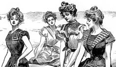 Gibson Girl, artist Charles Dana Gibson's Edwardian ideal of beauty.