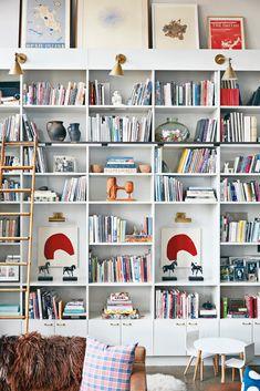 Built-In Bookshelf Inspiration - Home Library Ideas Creative Bookshelves, Bookshelves Built In, Built Ins, Custom Bookshelves, Bookcases, Bookshelf Styling, Floor To Ceiling Bookshelves, Library Shelves, Studio House