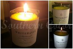 Southern Color: Wine Bottle Candle Making