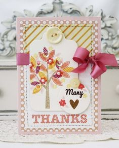 Many Thanks Card by Melissa Phillips for Papertrey Ink (July 2013)