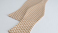 Gold Chevron freestyle bow tie Wedding Bow Tie by RNCelebrations