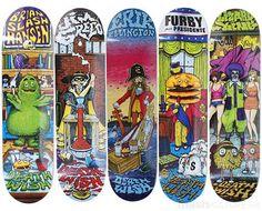 These  Deathwish 'Value Menu' Decks Show Horrific Mascots #Skateboards #Sports