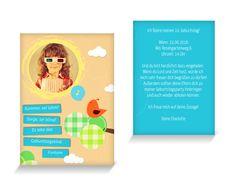 Fröhlicher Spatz Einladungskarten Kindergeburtstag