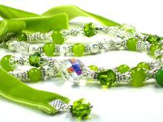 Peridot Gemstone Necklace Peridot Gem Beads Green by FantasyDesign, $127.00