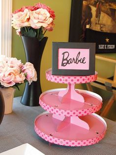 Barbie party ideas.. cute for her cupcakes