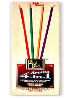 Buy Zed Black Aroma 4 in 1 Agarbatti (Pack of 6 total 600 gm sticks)