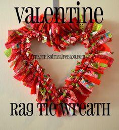 This Girl's Life: Rag Tie Valentine Wreath