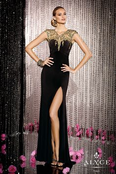 Black Label Evening Gown 5602 by Alyce Paris