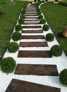 25 Simple And Modern Garden Design #eweddingmag #gardenlanscaping #HomeDecorationIdeas #HomeDesign