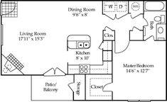 Morningside Gardens One Bedroom Apartment Floor Plan 1