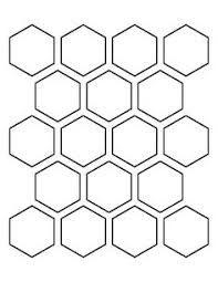 Printable hexagon templates for your creative craft or