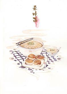 吃货的早餐-木爻_食物_涂鸦王国插画