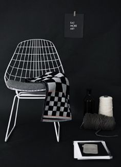 Pastoe Chair - Black and White