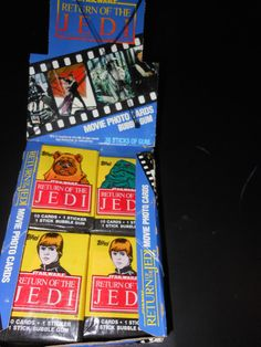 1983 Return of The Jedi pack of trading cards - star wars on Etsy, $5.00