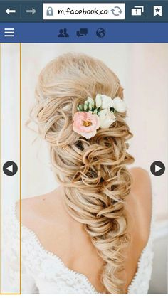 Wedding hairstyle idea. Simple and elegant