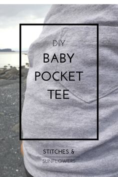 Use this free pattern for a DIY baby pocket tee to add a some style to your home sewn and upcycled baby tee shirts, or to update an existing tee.