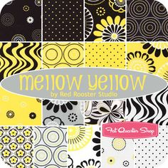 Mellow Yellow Fat Quarter Bundle Red Rooster Studio for Red Rooster Fabrics