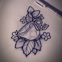 Teacup Tattoo on Pinterest | Cup Tattoo, Tattoos and body art and ...