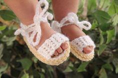 Crochet bebé sandalias sandalias de bebé por LittleShootingStars