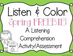 Listen and Color is one of the most popular activities I do in my classroom! It is great for helping students develop their listening skills. Also, it lends itself to being a FUN, interactive assessment to check listening skills. Students listen while the teacher reads aloud either a single-step or multi-step direction (depending on the grade/ability level of your students).