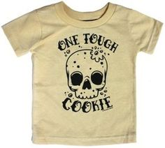 Tough Cookie - Toddler T-shirt - Tan and Black from Sourpuss Clothing (5T)