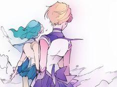 Art by: murimajimuri Watch Sailor Moon, Sailor Neptune, Sailor Uranus, Sailor Moon Art, Sailor Moon Crystal, Sailor Mars, Old Anime, Anime Art, Manga Art