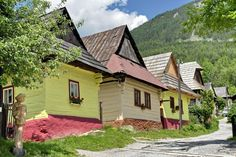 Vlkolínec, a UNESCO world heritage-listed area, a remarkably intact 45 traditional log cabins of Carpathian mountain architecture in the centre of Slovakia