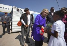 Beekeeping; Bees in Malawi don't take too kindle to the arrival of Hilary Clinton!