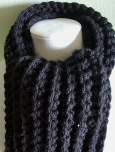Check out this item in my Etsy shop https://www.etsy.com/listing/266337589/mens-xl-black-hat-and-scarf-setcrochet