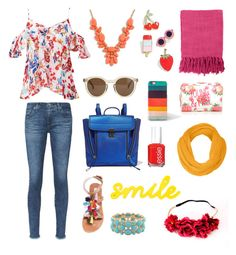 Young & Free by katrina-lynne-goenaga on Polyvore featuring polyvore, fashion, style, Tanya Taylor, AG Adriano Goldschmied, Steve Madden, 3.1 Phillip Lim, J.Crew, Monet, Paul Smith, Celebrate Shop, Forever 21, Essie, Surya and clothing