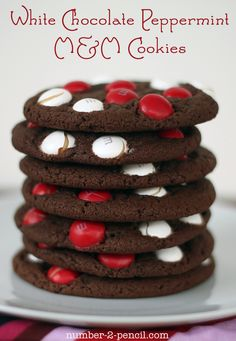 white chocolate peppermint M cookies!