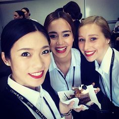 Etihad Airways cabin crew trainees. #Moroccan #Dutch #smiles