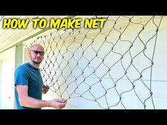 The best DIY projects & DIY ideas and tutorials: sewing, paper craft, DIY. Video Description Paracord rope - Today I am going to show you how to make a paracord net. You can use this technique to make Cargo Net, Hammock Netting, Diy Hammock, Net Making, Volleyball Net, Nautical Knots, Cargo Net, Paracord Projects, Filets, Survival Skills